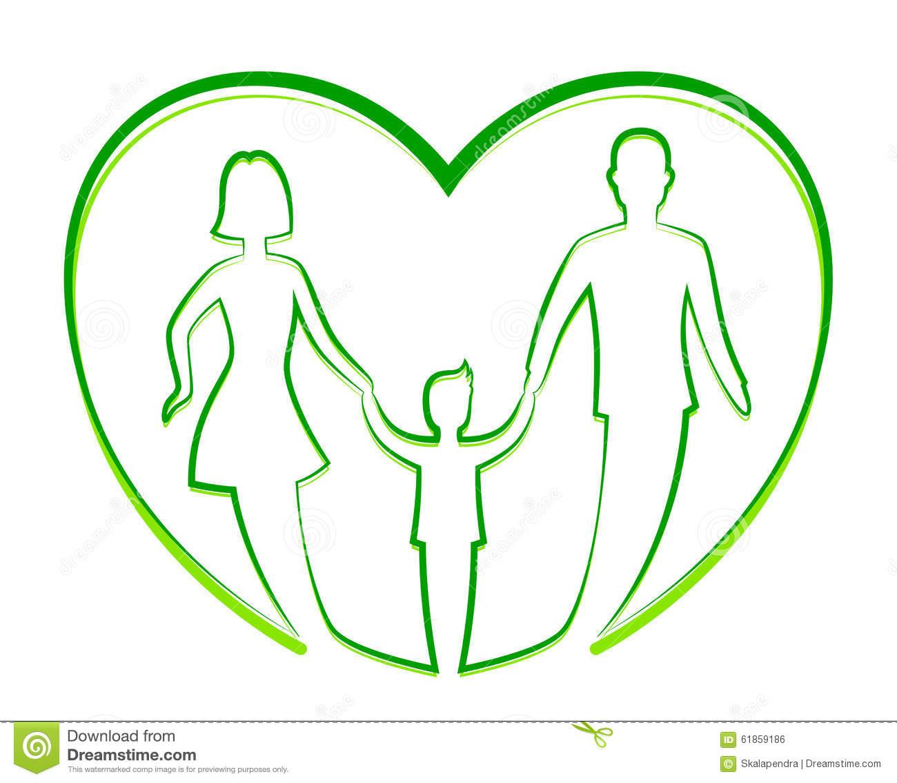 Family unity stock vector. Illustration of charity, adoption.
