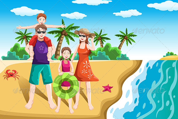 Family vacation clipart free.