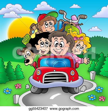 Family Vacation Stock Illustrations.
