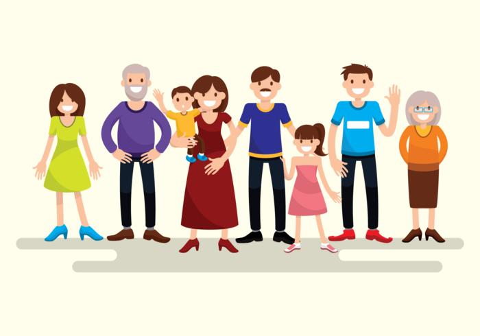Family Free Vector Art.