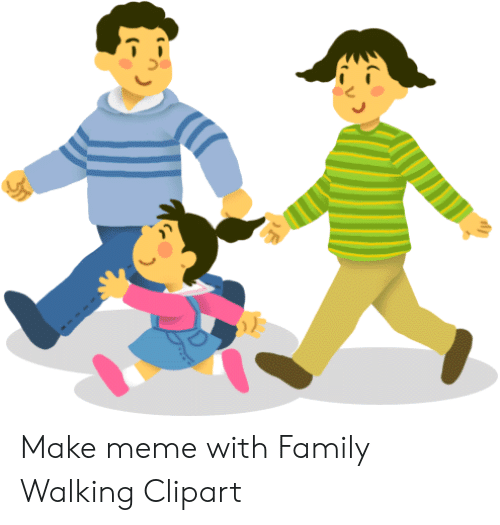 Make Meme With Family Walking Clipart.
