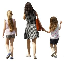 Cutout Family Walking 0011 available for download in XL size.