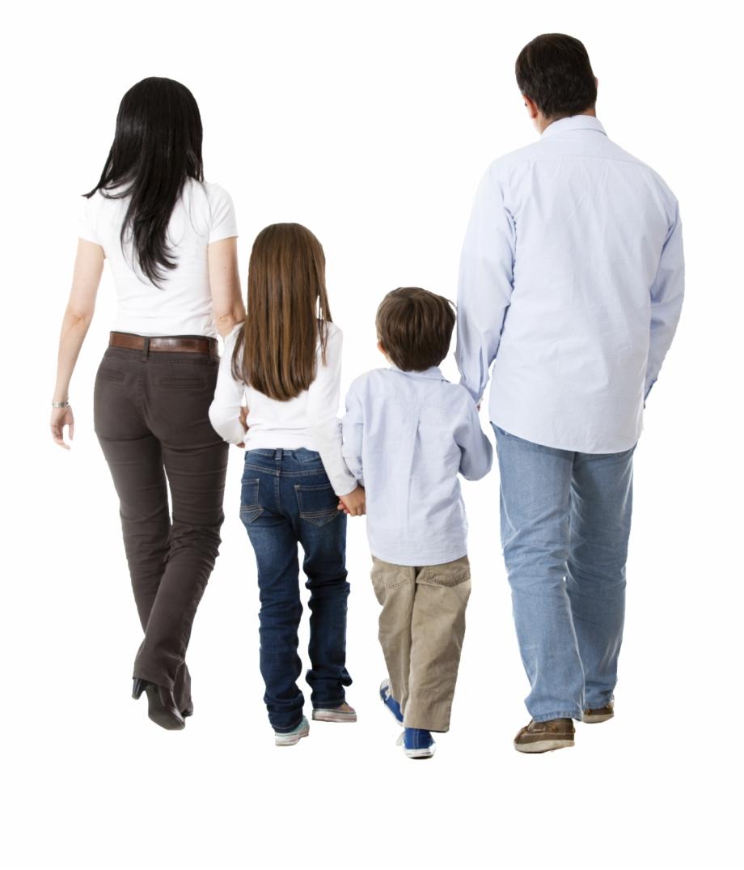 Family Walking Png.