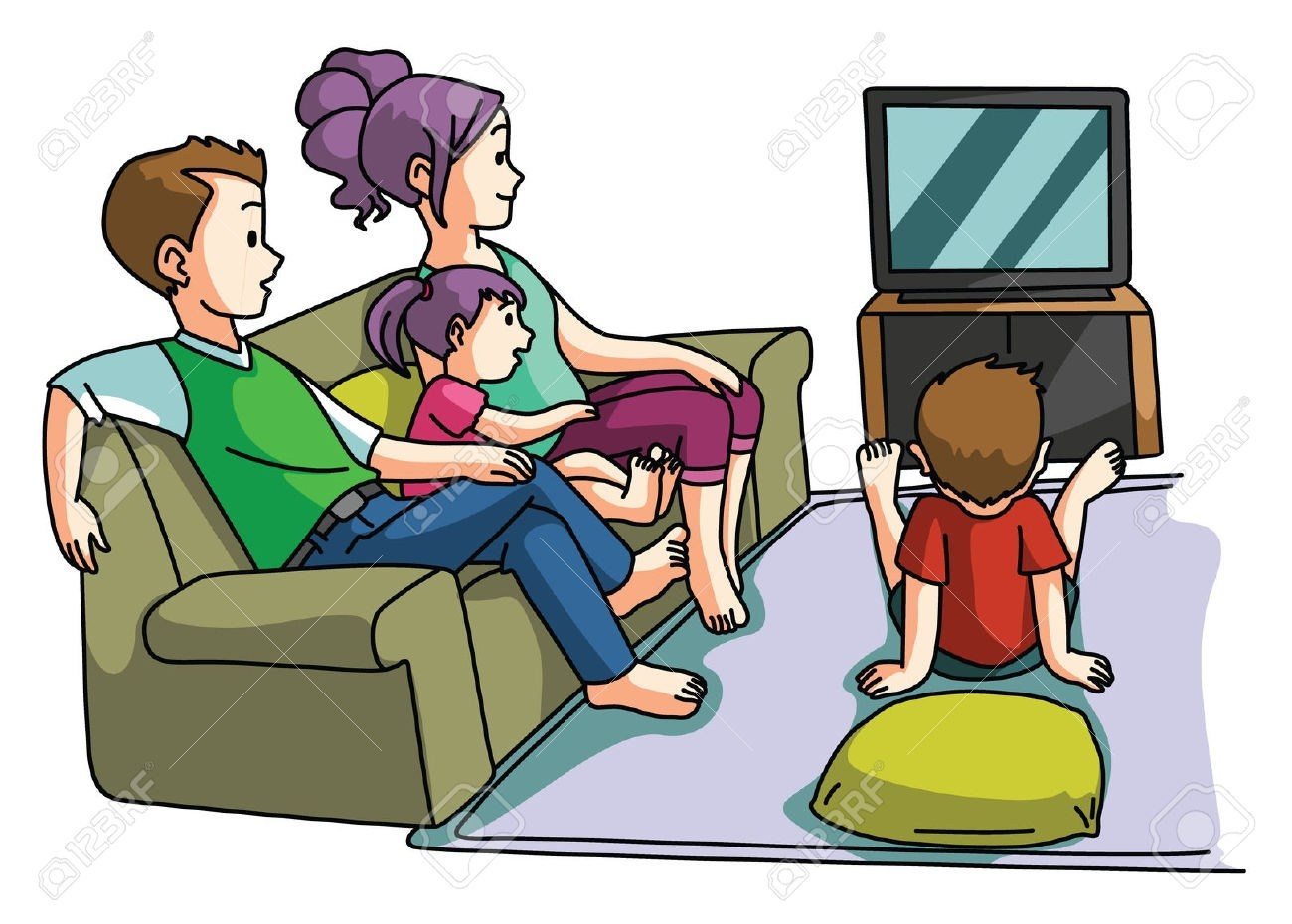 Family watching movie clipart 5 » Clipart Portal.
