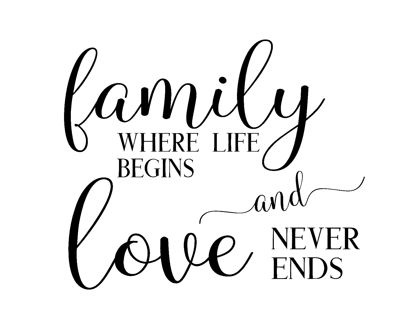 Download family where life begins and love never ends png 10 free ...