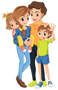 Family clipart 4 people 2 daughters 4 » Clipart Station.