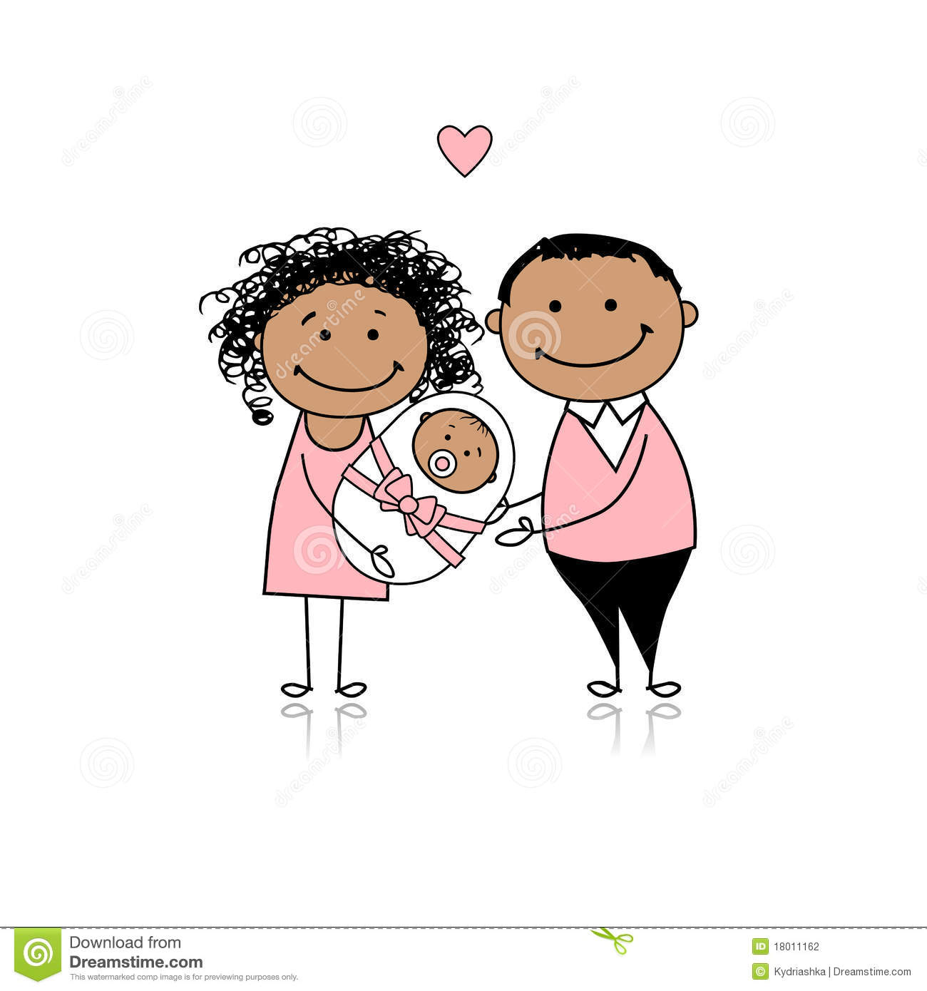 Family With Baby Clipart.