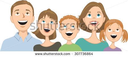 Family of Three Clip Art (52+).