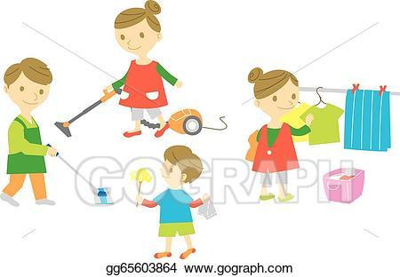 Family working together in their household clipart 2 » Clipart Portal.