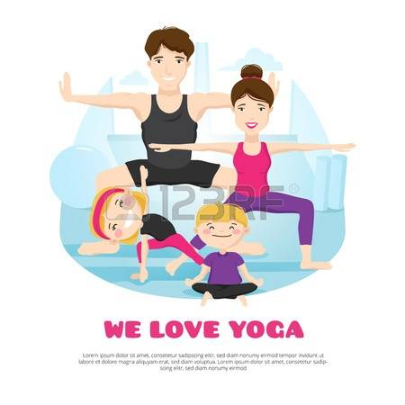481 Family Yoga Stock Vector Illustration And Royalty Free Family.