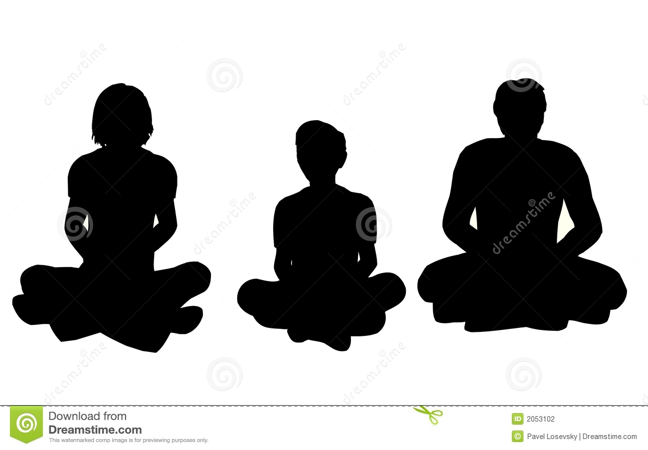 Family Yoga Stock Illustrations.