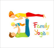 Family Yoga Vector Stock Photography.