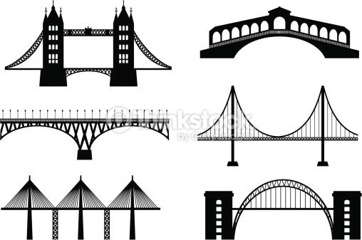 Set Of Bridge Vector Art.