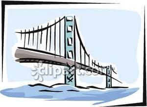 Bridge In San Francisco California.