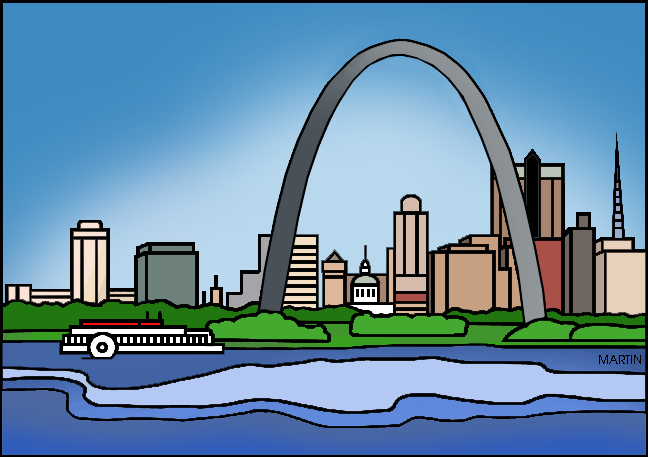 Free United States Clip Art by Phillip Martin, Famous Places in.