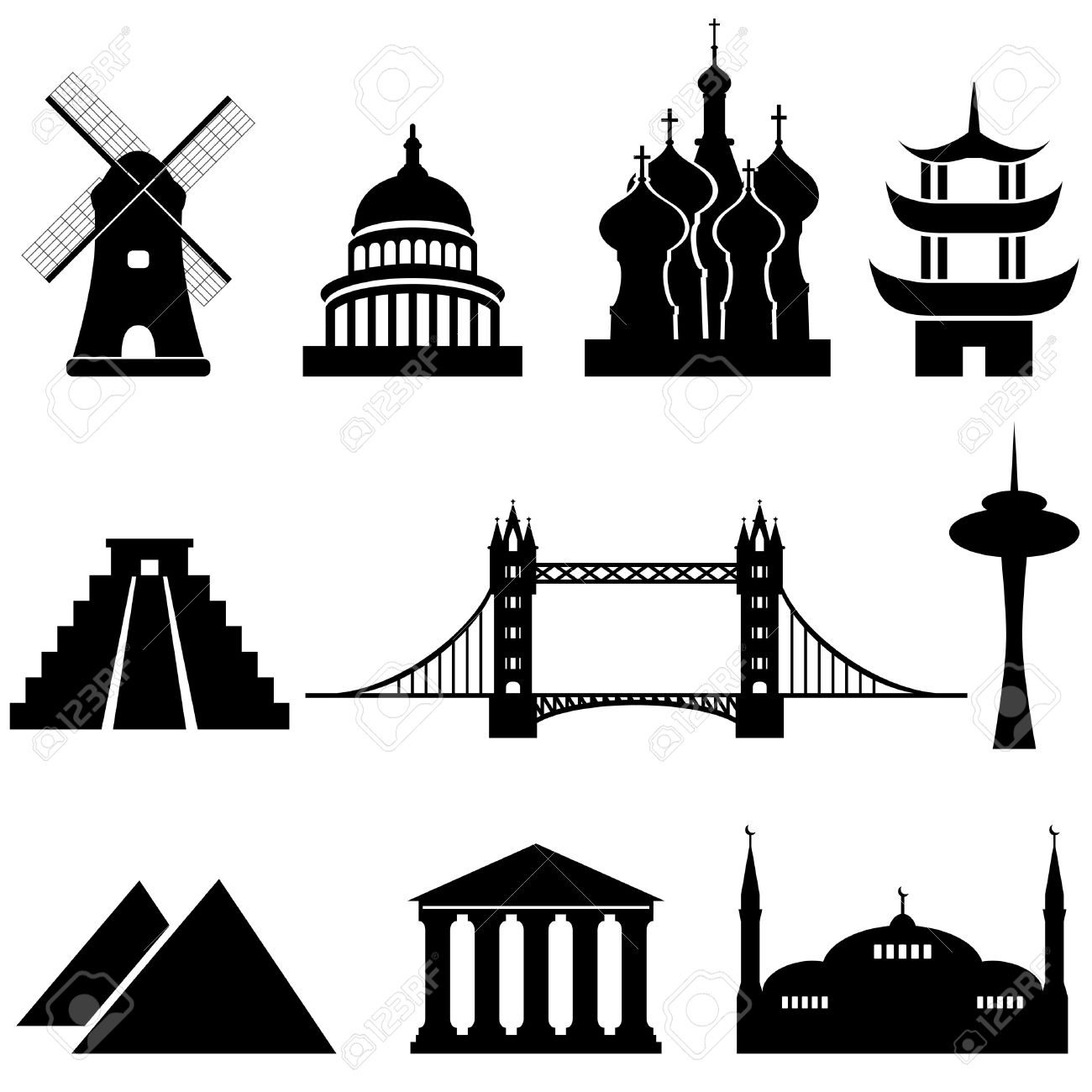 World Famous Places Clipart (70+) #41528.