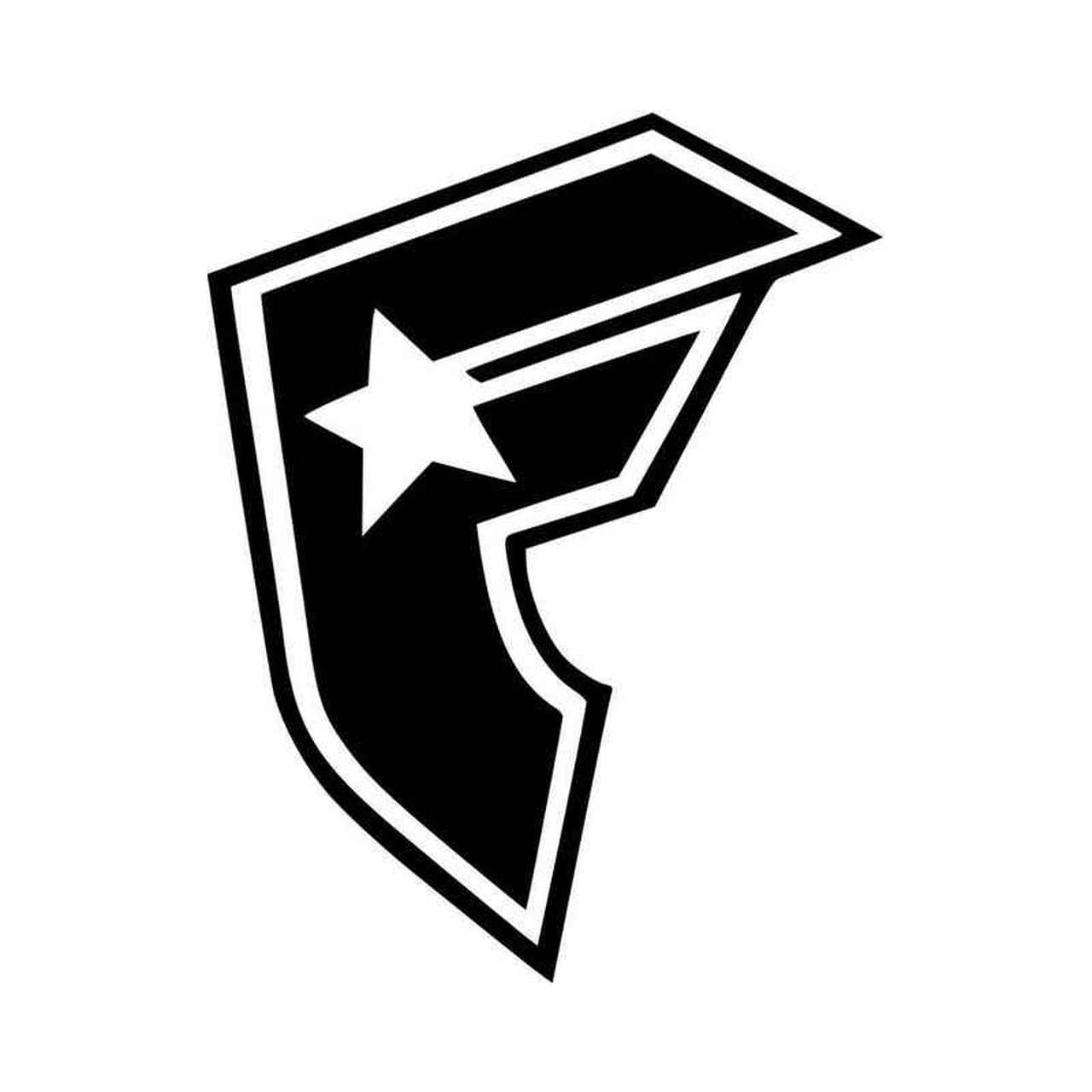 Famous Stars And Straps F Logo Vinyl Decal Sticker.