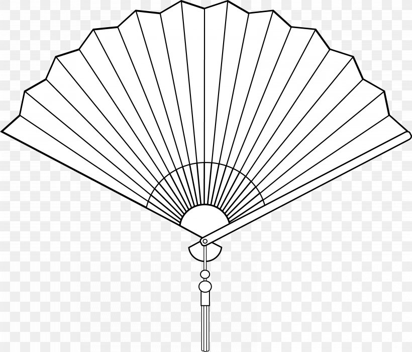 Hand Fan Drawing Clip Art, PNG, 6559x5604px, Hand Fan, Black.