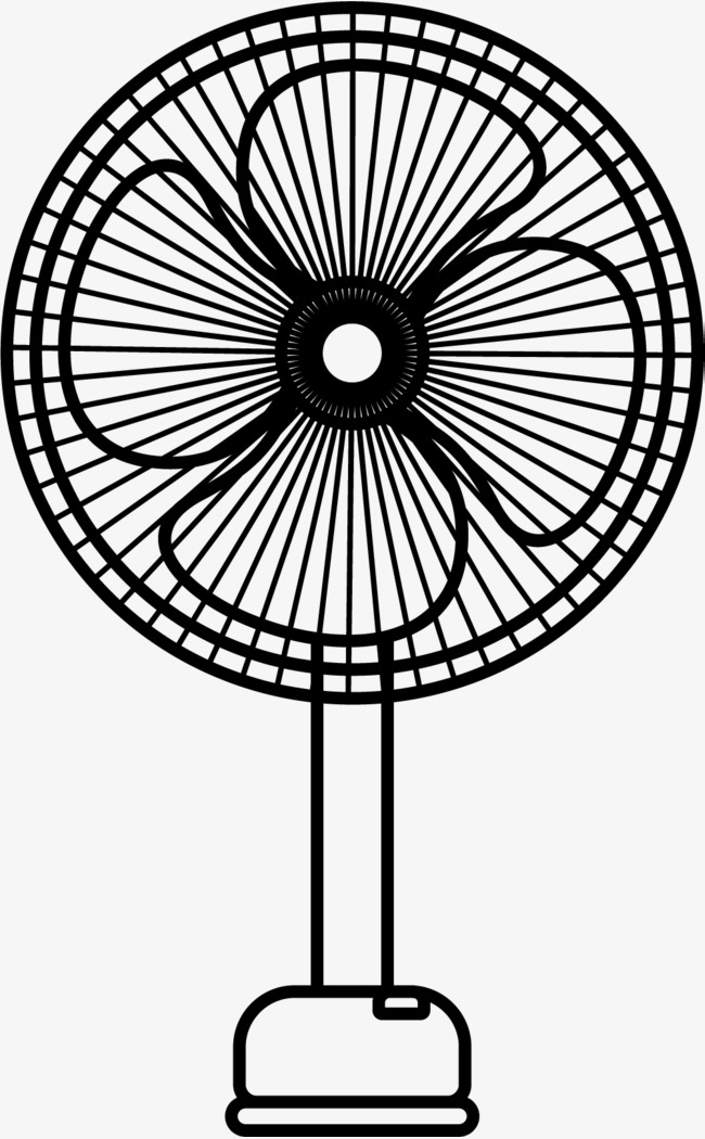 Fan Png Black And White & Free Fan Black And White.png Transparent.