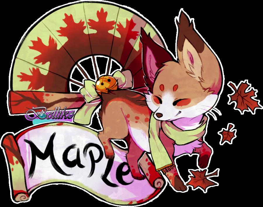 Maple: Foxfan of the Month by Belliko.