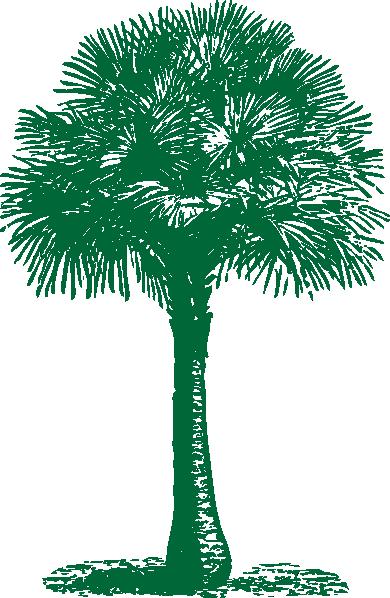 Palm fan clipart #5