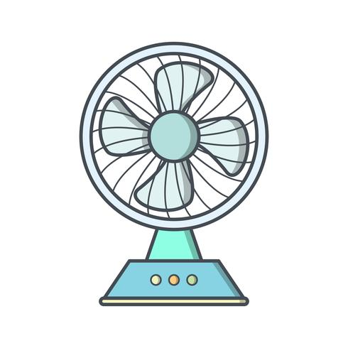 Charging Fan Vector Icon.