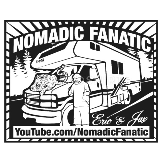 Nomadic Fanatic Logo Buttons small 1\'\' (5.