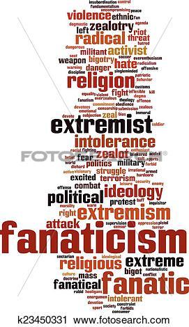 Clipart of Fanaticism word cloud k23450331.