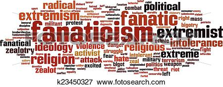 Clip Art of Fanaticism word cloud k23450327.