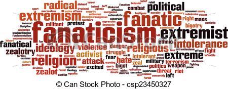 Vector Illustration of Fanaticism word cloud concept. Vector.