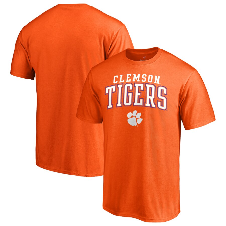 Men\'s Fanatics Branded Orange Clemson Tigers Team Logo Square Up T.