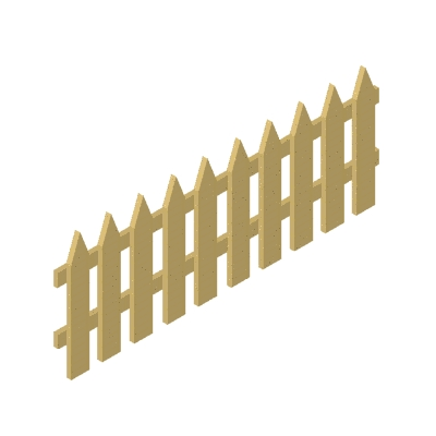 Wooden Fence Clipart.