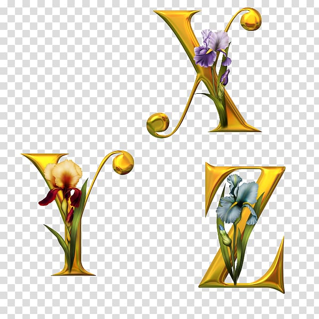 Fancy Alphabets Letter English alphabet Flower, flower.