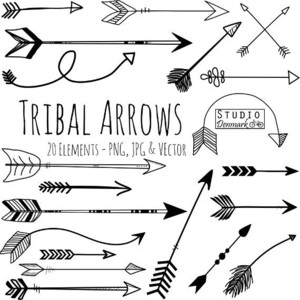 Aztec tribal arrow clipart.