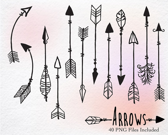 Digital Clipart Hand Drawn clipart arrows arrows.