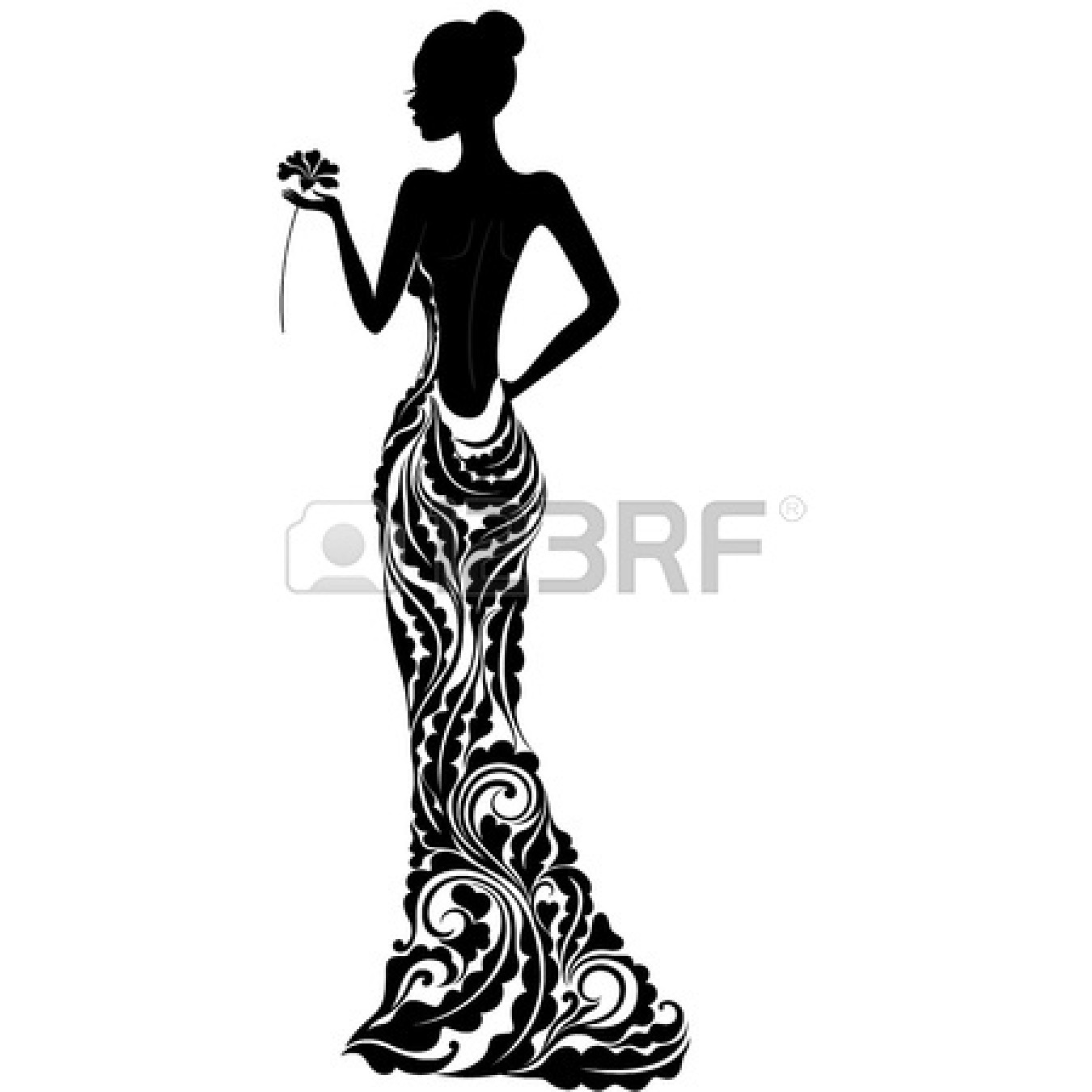 Fancy Black Silhouette Clipart Clipground