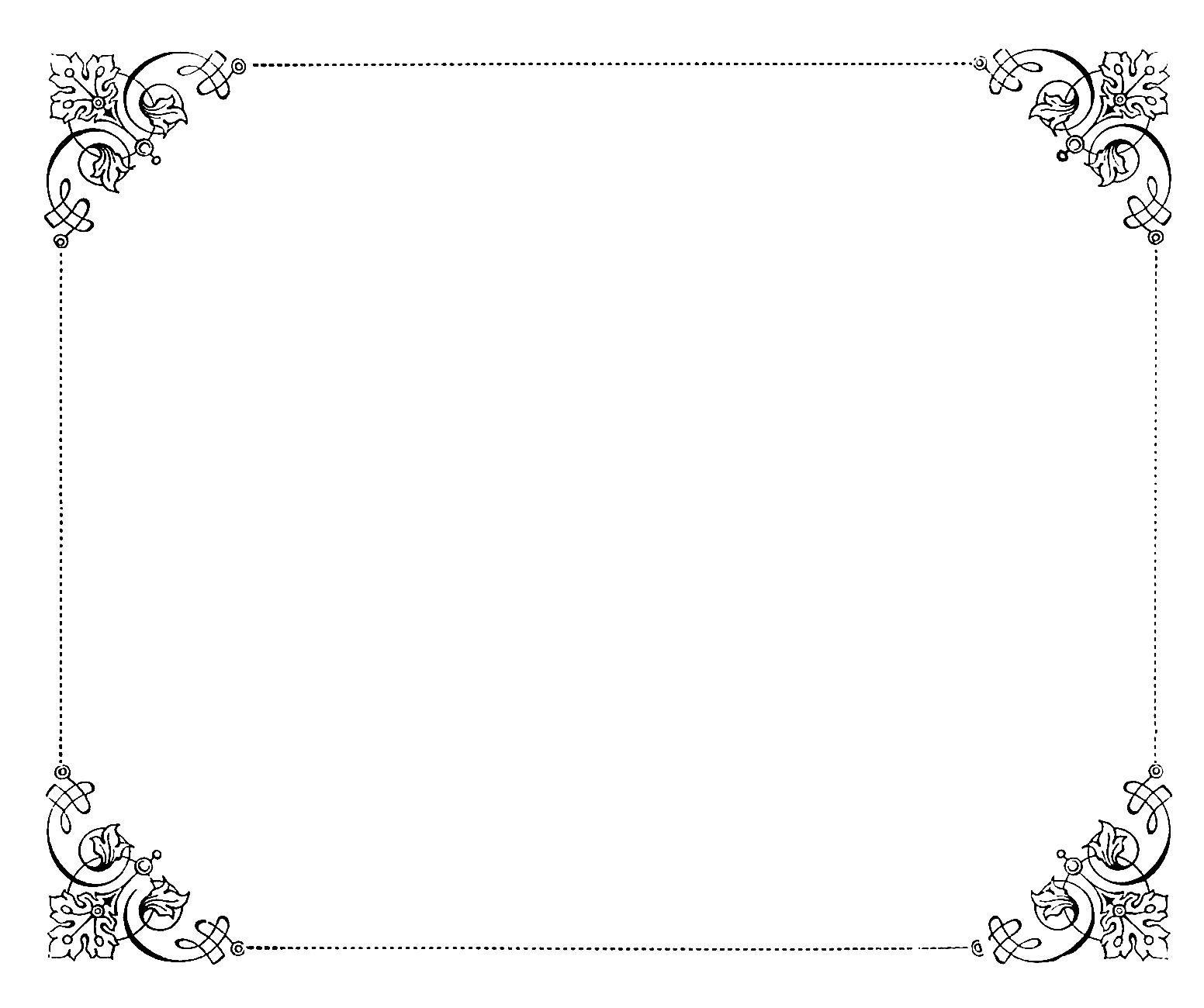 8 Fancy Paper Border Designs Images.
