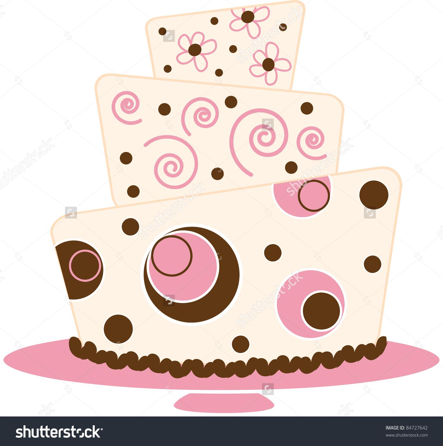 Clip Art Illustration Fancy Layer Cake Stock Illustration 84727642.