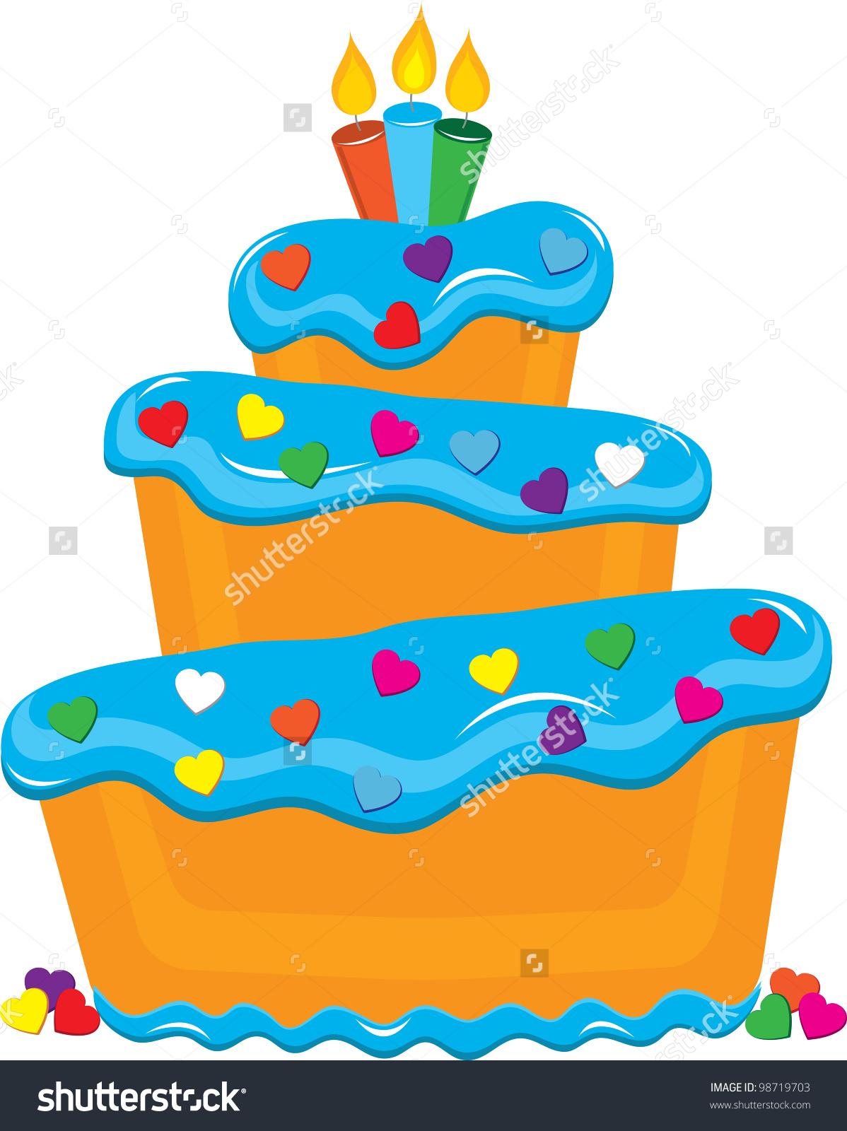 Clip Art Illustration Fancy Layer Cake Stock Illustration 98719703.