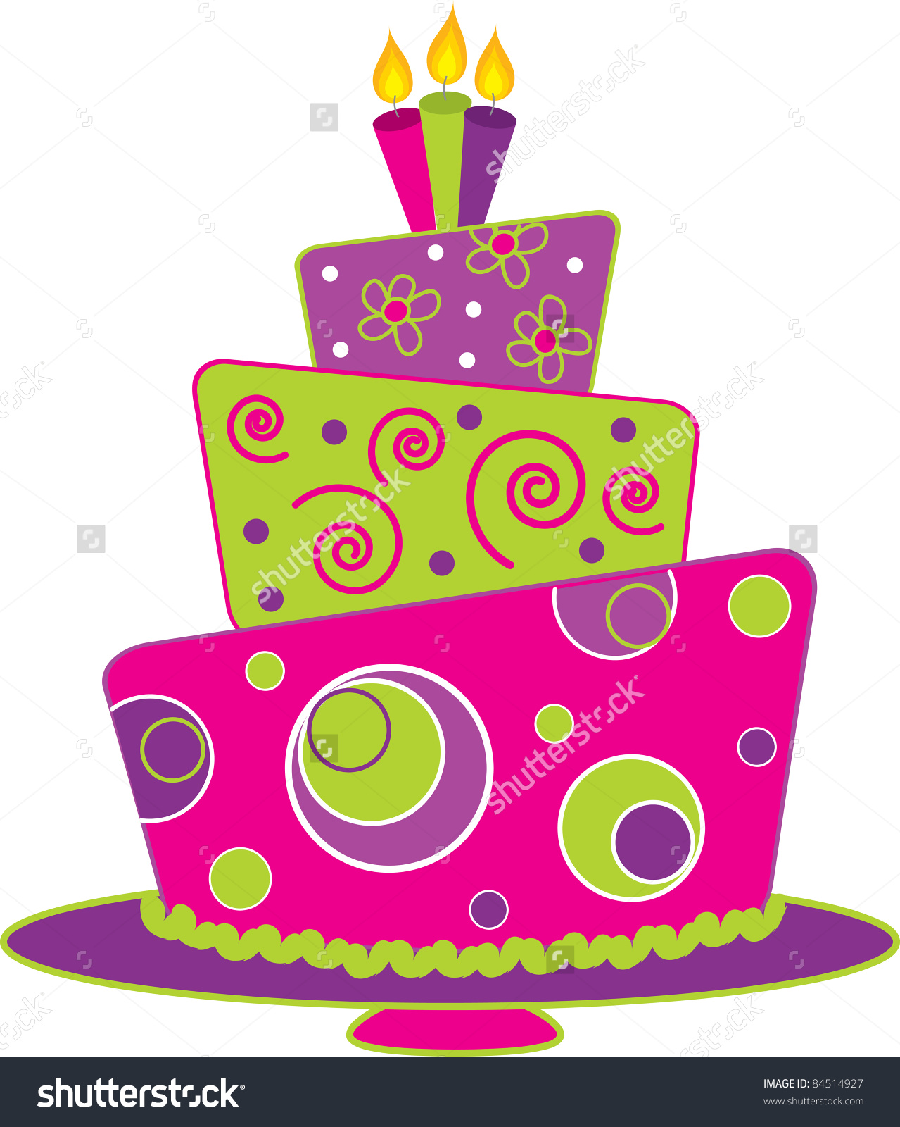 Clip Art Illustration Fancy Cake Crooked Stock Illustration.