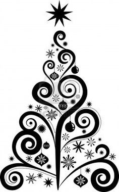 Free Vector Christmas Tree Silhouettes on Pinterest.