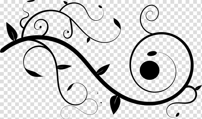 Line art Ornament , fancy line transparent background PNG.