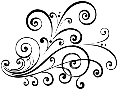 Fancy Scroll Clip Art.