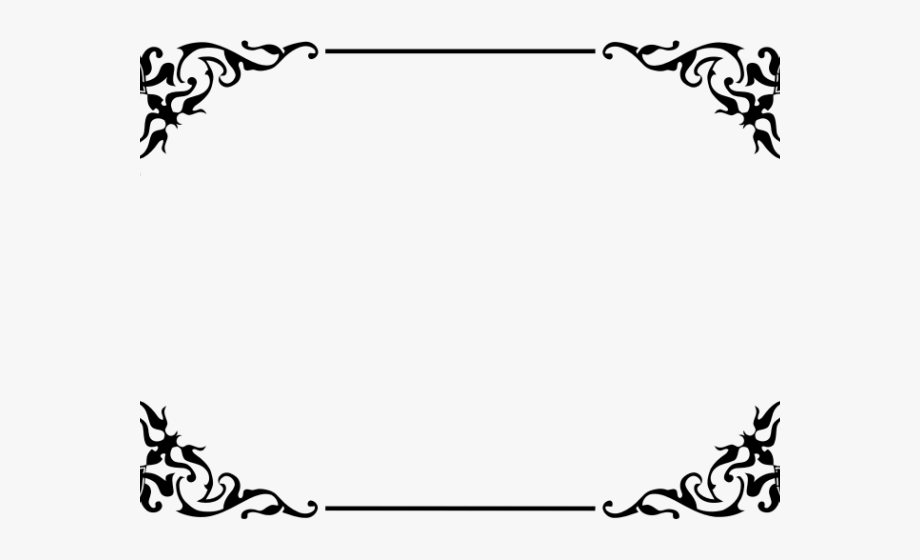 Decorative Border Clipart Fancy.
