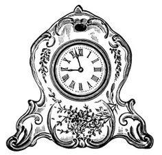 clock clipart fancy.