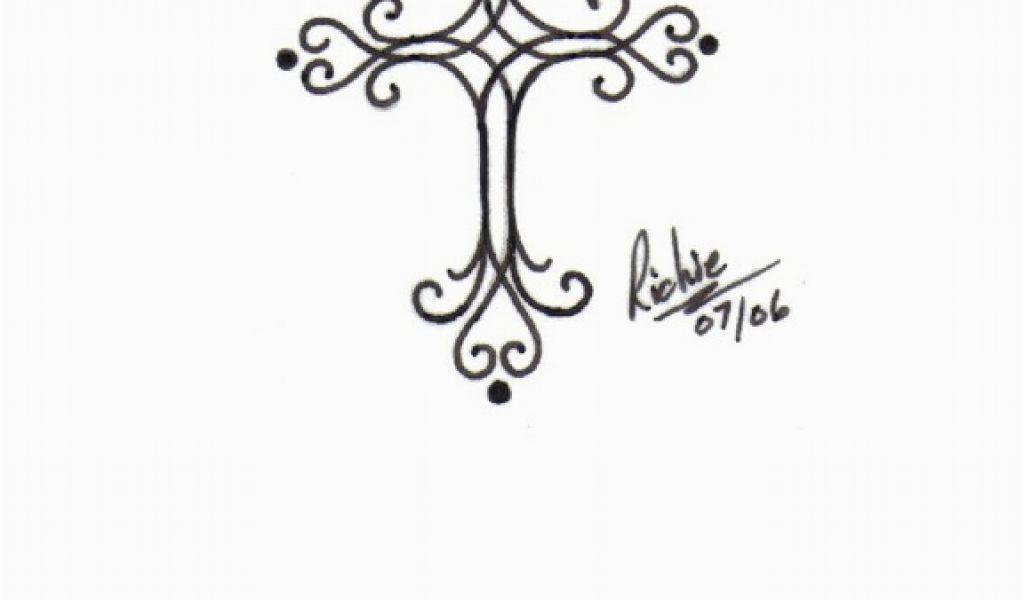 Fancy Cross Tattoo Designs Filigree Cross Clipart Clipart Suggest.