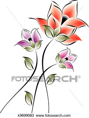 Fancy Flower Clipart.
