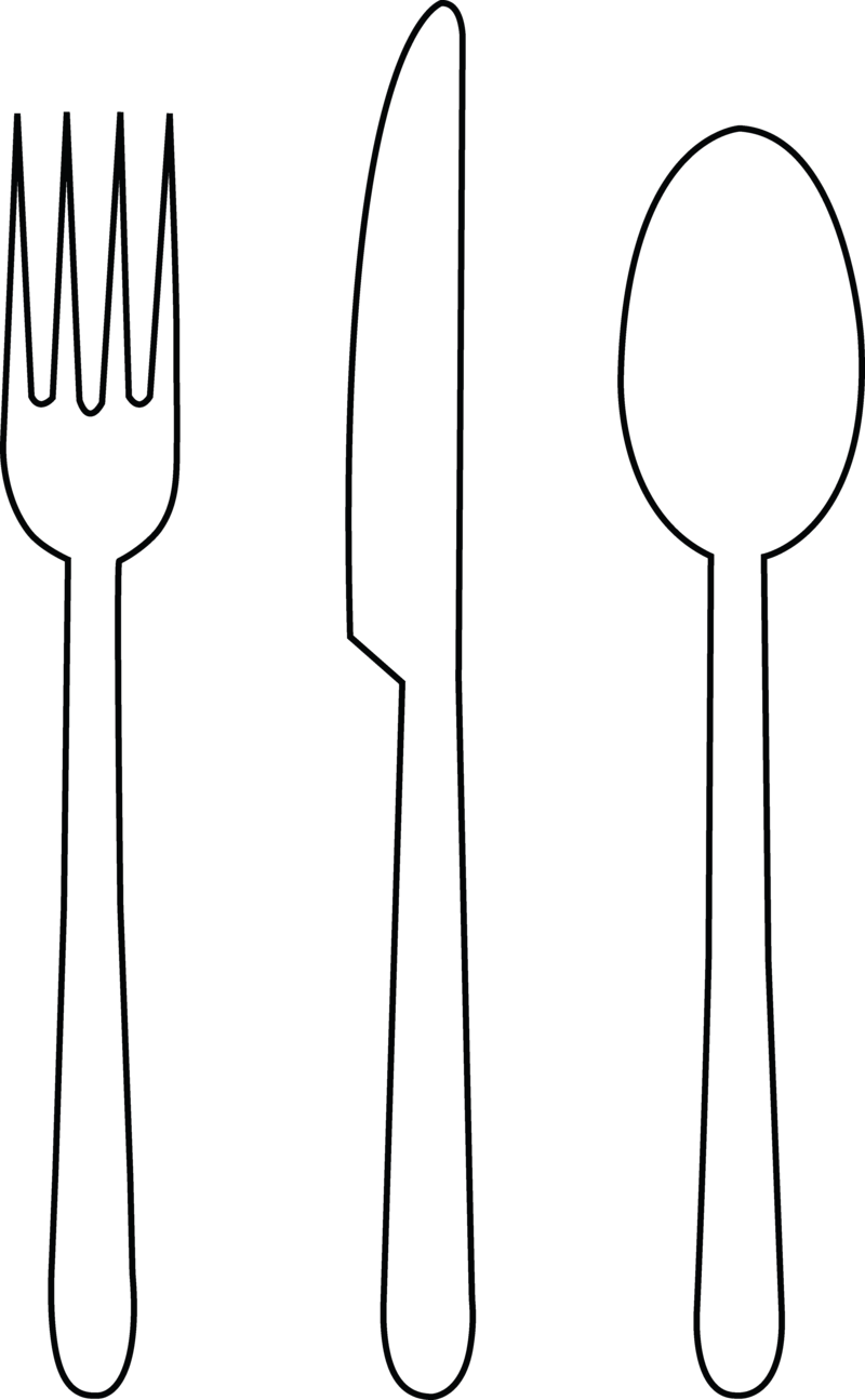 Download Free png fancy fork clipart black and.