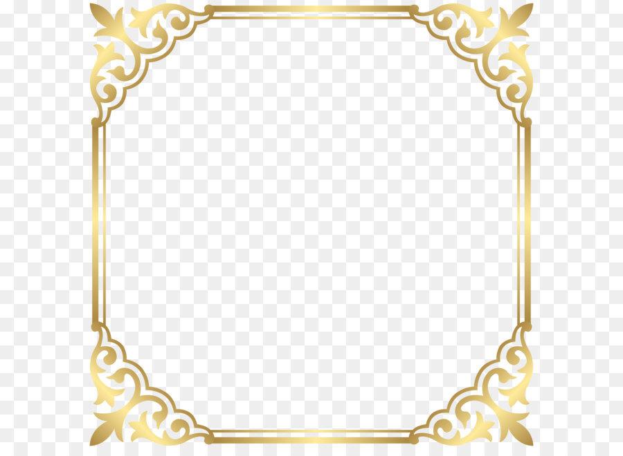Golden Border Design Png (+).