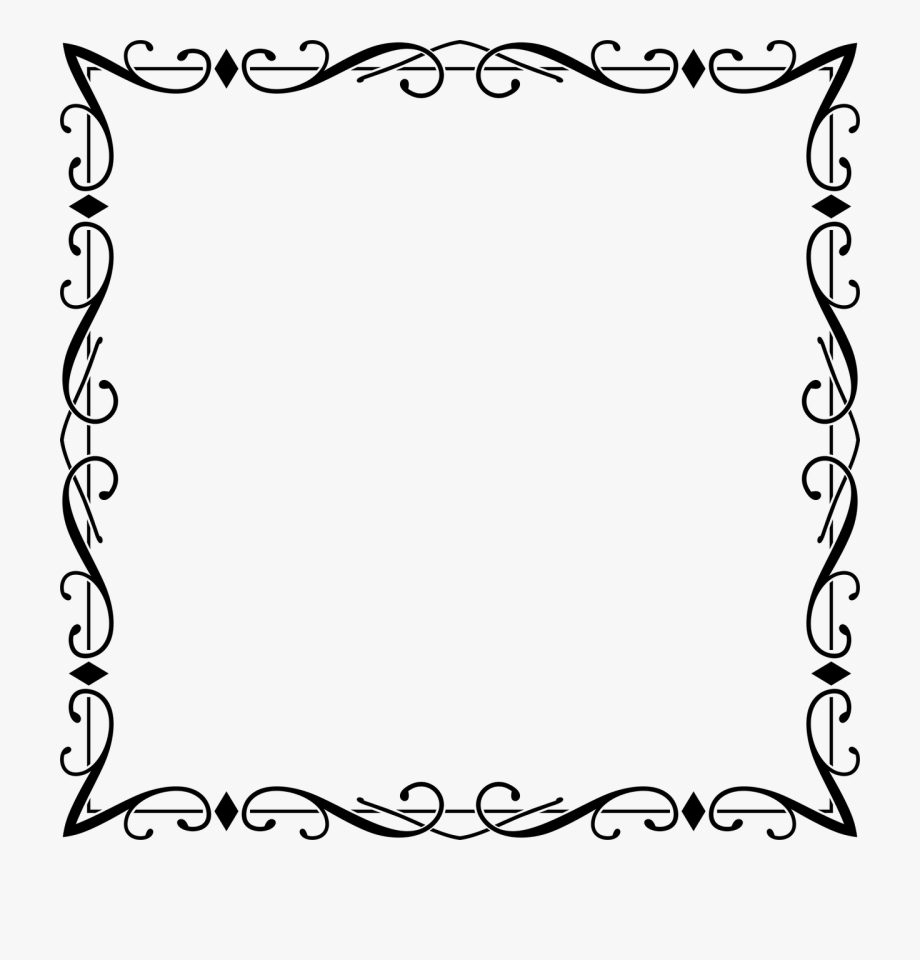 Flourish Frame Clipart Borders And Frames Picture Frames.